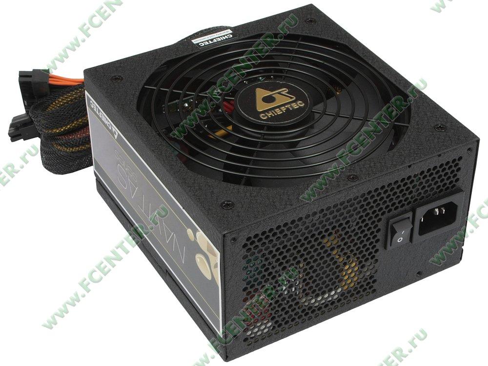 "Блок питания 850Вт Chieftec ""Navitas GPM-850C"" ATX12V V2.3. Вид спереди."