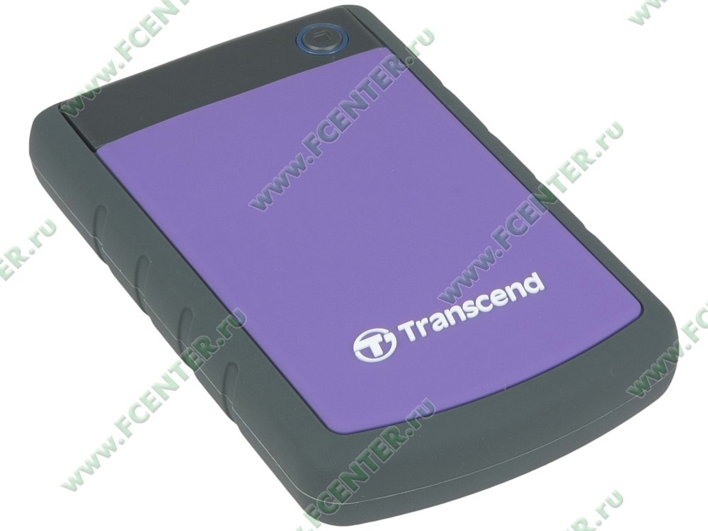 "Внешний жесткий диск 2ТБ Transcend ""StoreJet 25H3"" (USB3.0). Вид спереди."