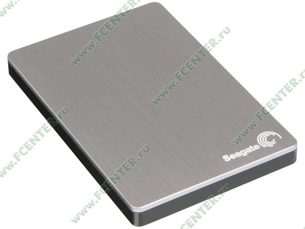 """Внешний жесткий диск 2ТБ Seagate """"Backup Plus Portable STDR2000201"""" (USB3.0). Вид спереди."""