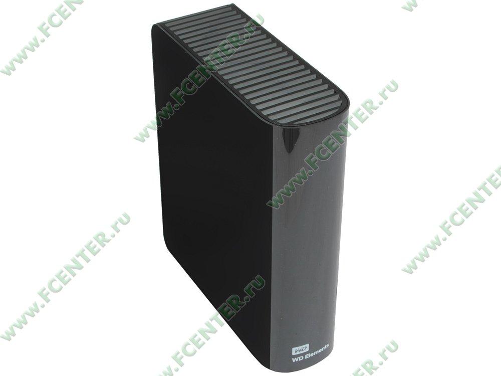 "Внешний жесткий диск 3ТБ Western Digital ""Elements"" (USB3.0). Вид спереди."