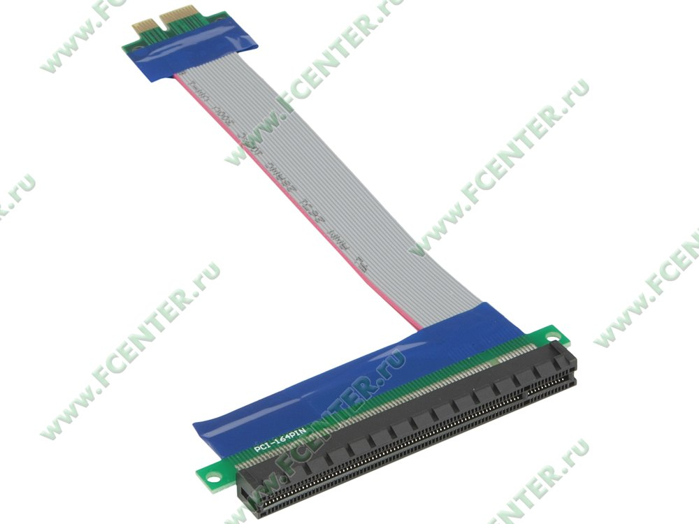 """Кабель-переходник PCI-E x1->PCI-E x16 Espada """"E PCI EX1-X16 rc"""" (oem)"""