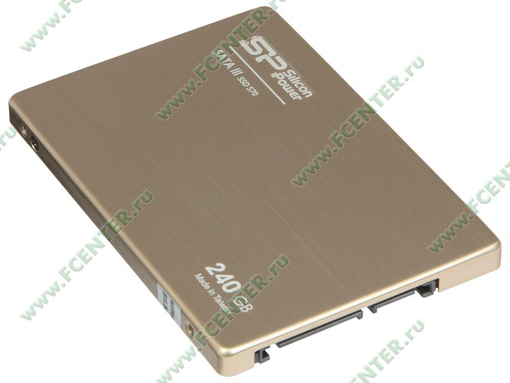 """SSD диск 240ГБ 2.5"""" Silicon Power """"S70"""" (SATA III). Вид спереди."""