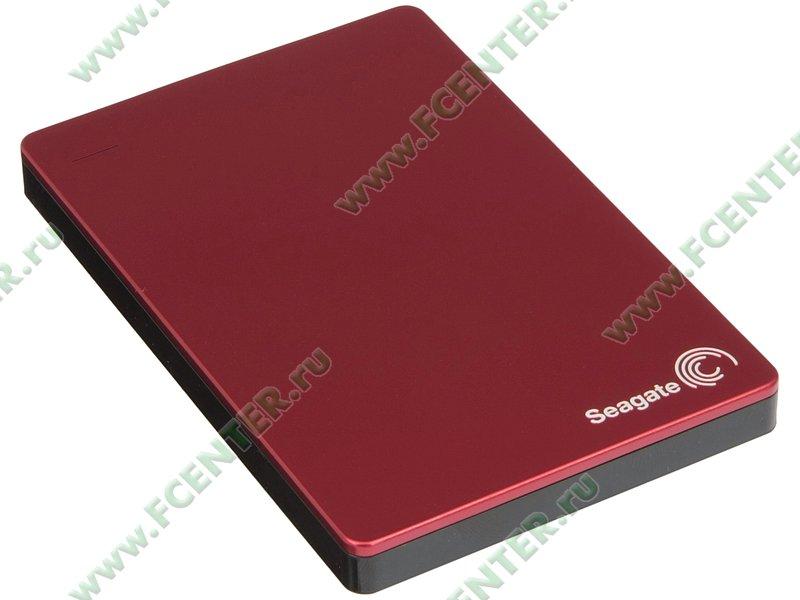 """Внешний жесткий диск 1ТБ Seagate """"Backup Plus Portable STDR1000203"""" (USB3.0). Вид спереди."""