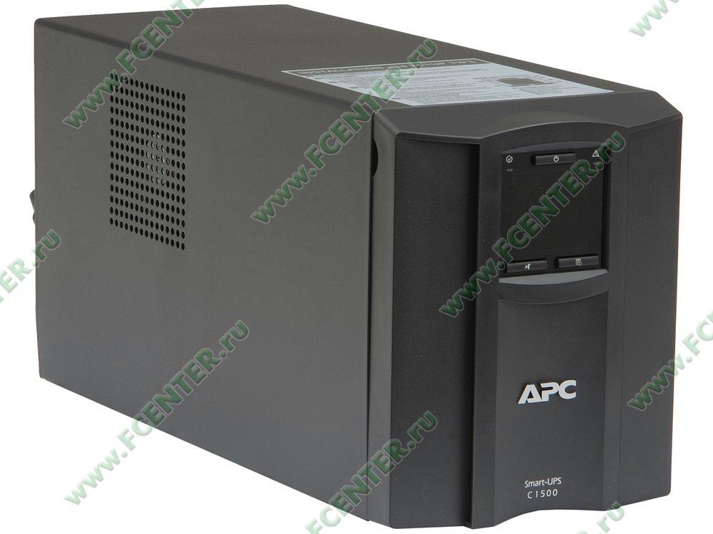 """Источник бесперебойного питания ИБП 1500ВА APC """"Smart-UPS C 1500"""" (USB). Вид спереди."""