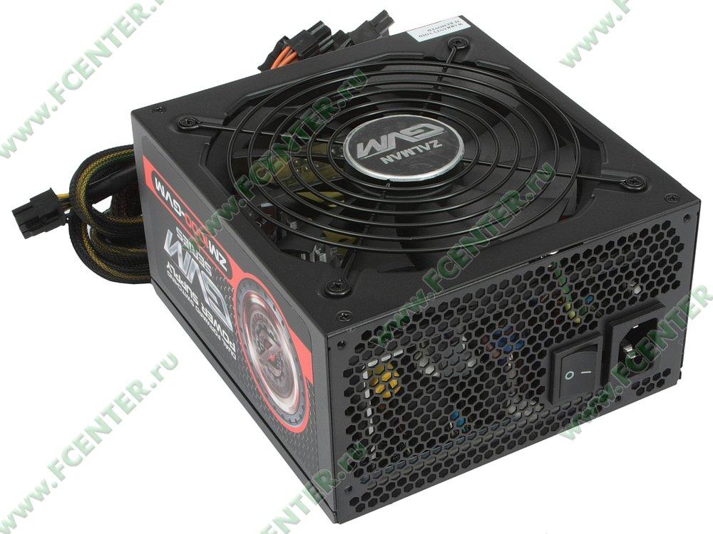 """Блок питания 1000Вт Zalman """"ZM1000-GVM"""" ATX12V V2.31. Вид спереди."""