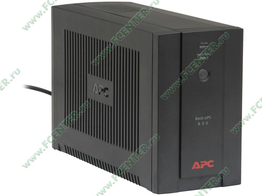 """Источник бесперебойного питания ИБП 800ВА APC """"Back-UPS"""" (USB). Вид спереди."""
