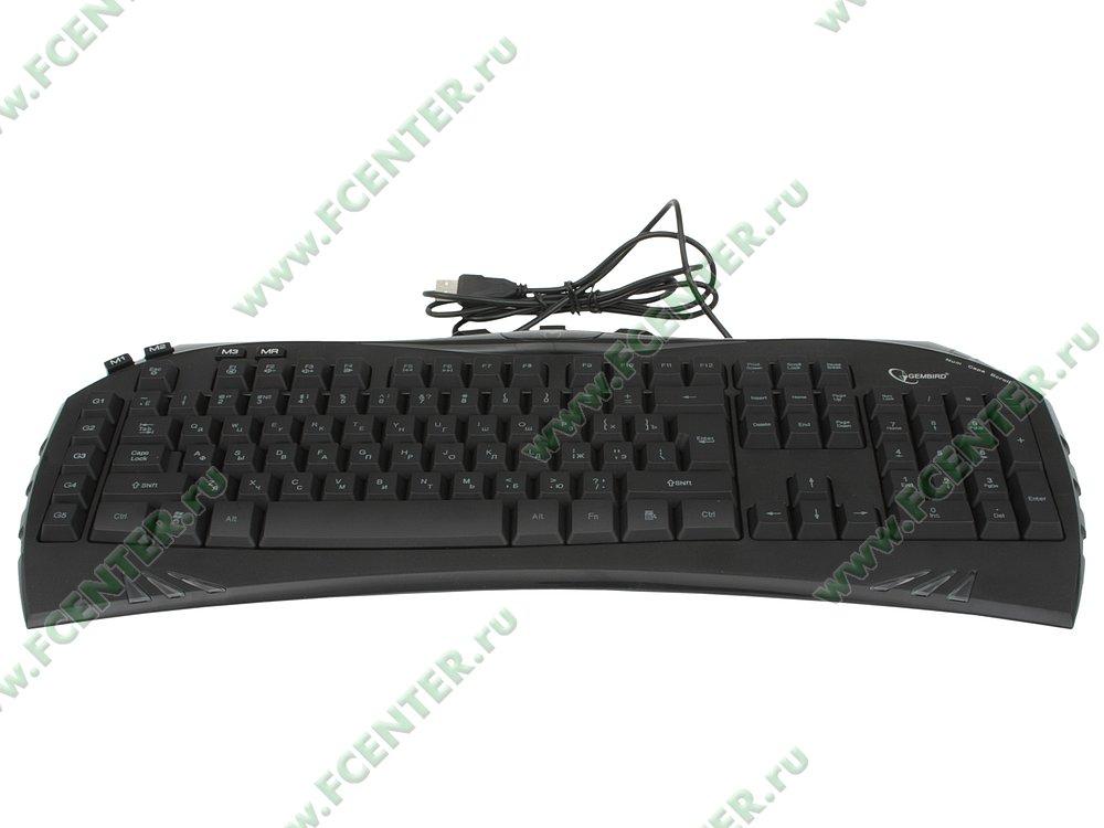 """Клавиатура Gembird """"KB-G100L"""" (USB). Вид спереди."""