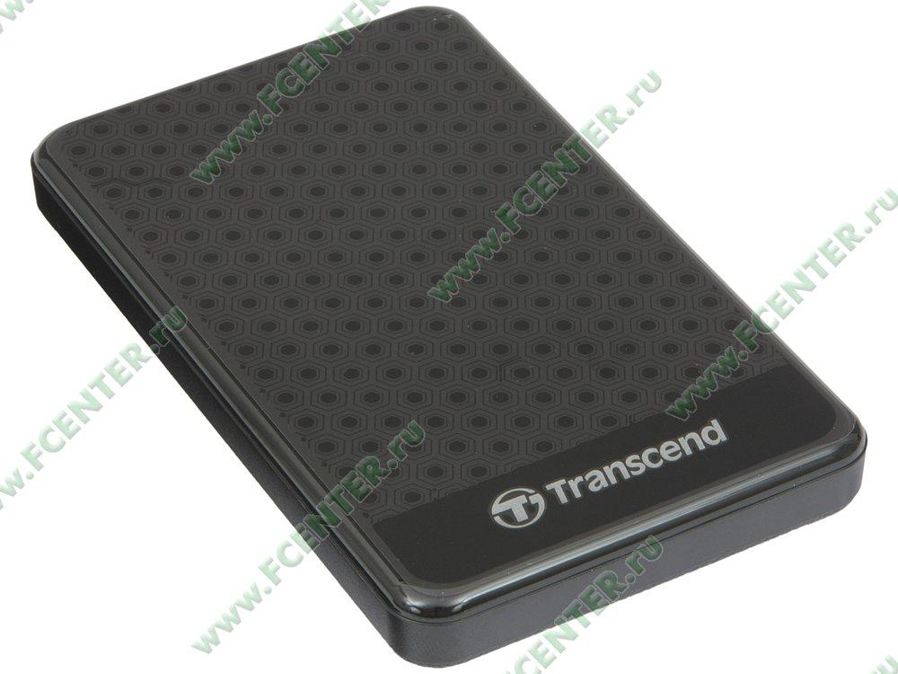 "Внешний жесткий диск 2ТБ Transcend ""StoreJet 25A3"" (USB3.0). Вид спереди."