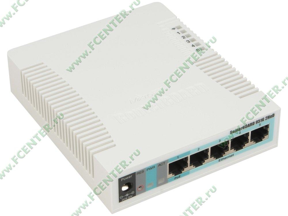 """Беспроводной маршрутизатор MikroTik """"RB951G-2HnD"""". Вид спереди."""