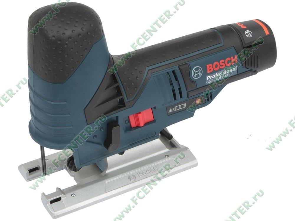 "Электролобзик Bosch ""GST 10.8 V-LI 2 x 2.0Ah Professional"". Вид спереди."