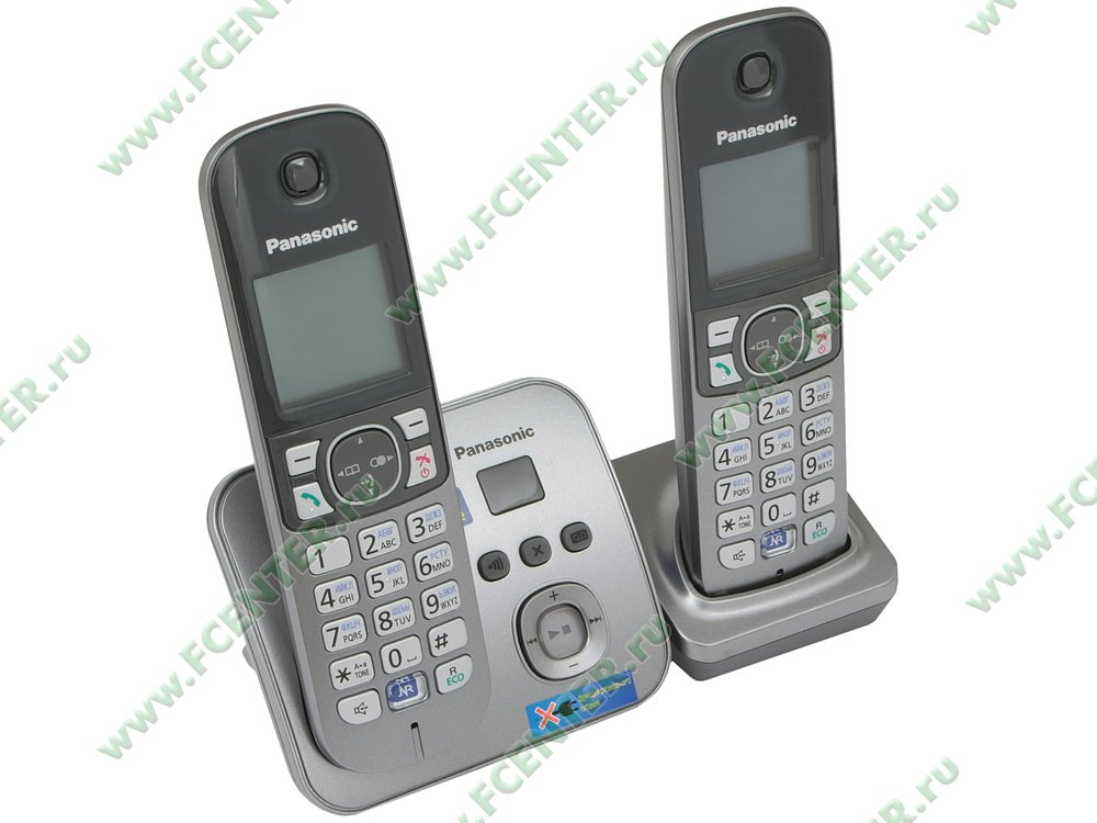 "Радиотелефон Panasonic ""KX-TG6822RUM"". Вид спереди."