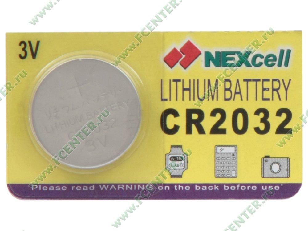 Батарейка NEXcell CR2032. Коробка.