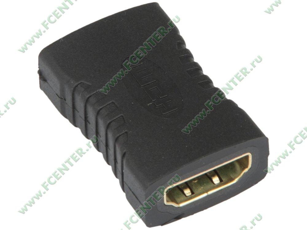 """Переходник HDMI(F)<->HDMI(F) ORIENT """"C496"""". Вид спереди."""