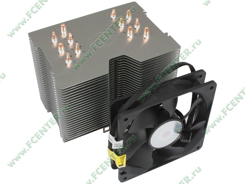 """Кулер для процессора Cooler Master """"Hyper 612 PWM ver.2 RR-H6V2-13PK-R1"""". Вид спереди 1."""