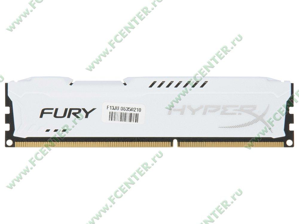 """Модуль оперативной памяти 4ГБ DDR3 Kingston """"HyperX FURY"""" (PC12800, CL10). Вид сверху."""
