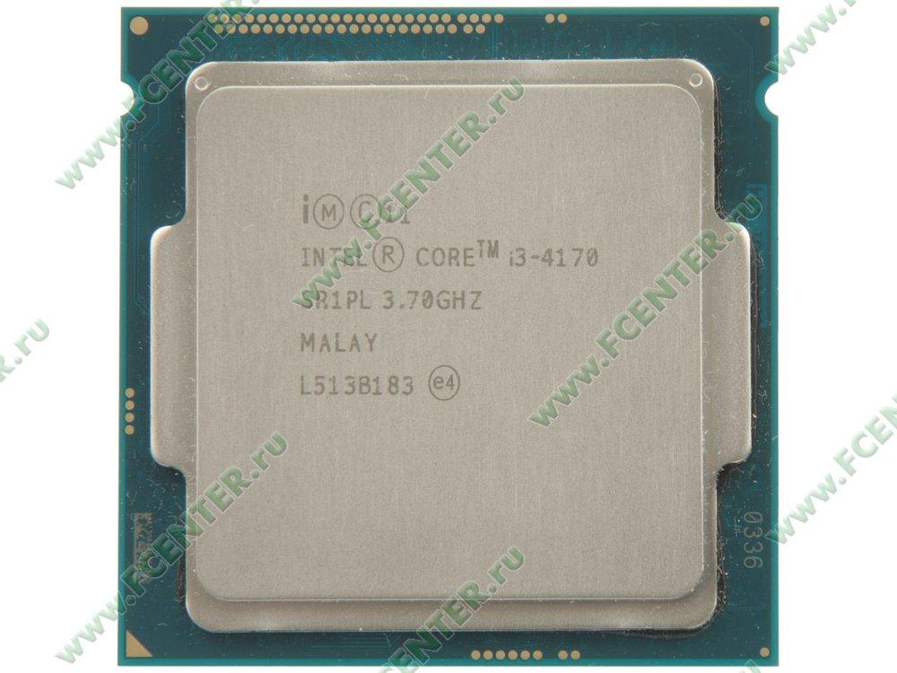 "Процессор Процессор Intel ""Core i3-4170"" . Вид сверху."