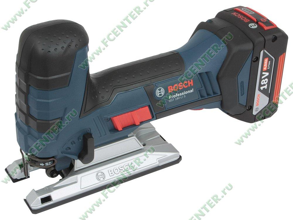 "Электролобзик Bosch ""GST 18 V-LI S Professional"". Вид спереди."