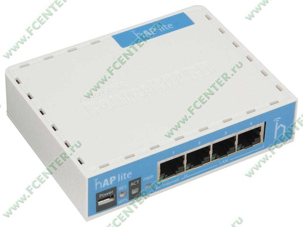 """Беспроводной маршрутизатор MikroTik """"hAP lite RB941-2nD"""". Вид спереди."""