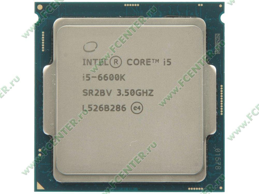 "Процессор Intel ""Core i5-6600K"" Socket1151. Вид сверху."