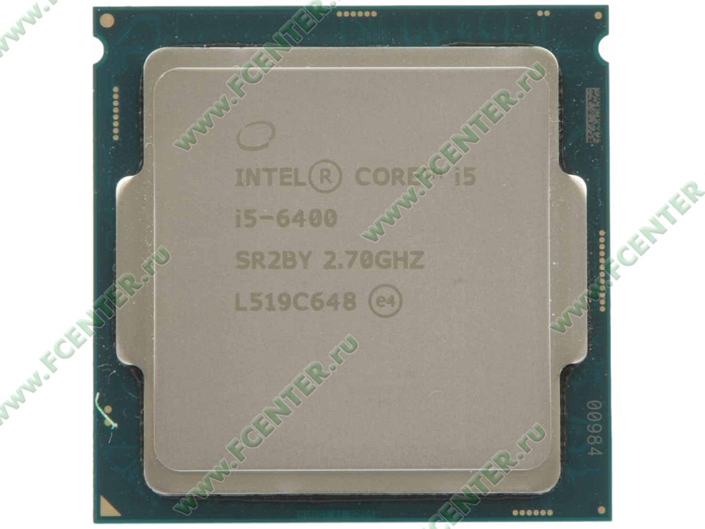 "Процессор Intel ""Core i5-6400"" Socket1151. Вид сверху."
