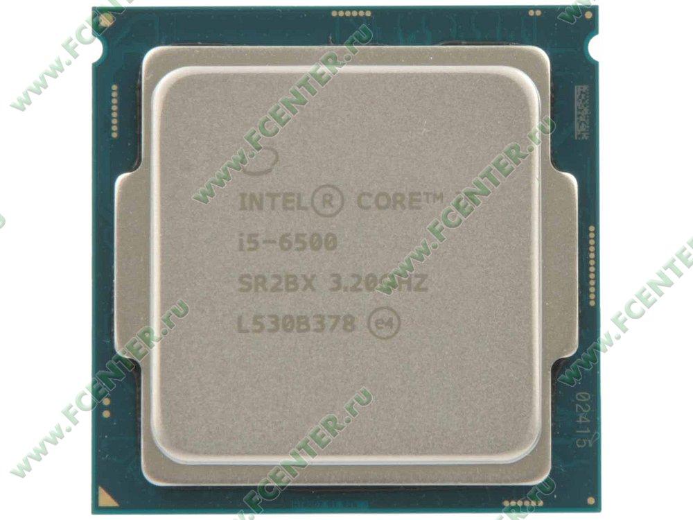 """Процессор Intel """"Core i5-6500"""" Socket1151. Вид сверху."""