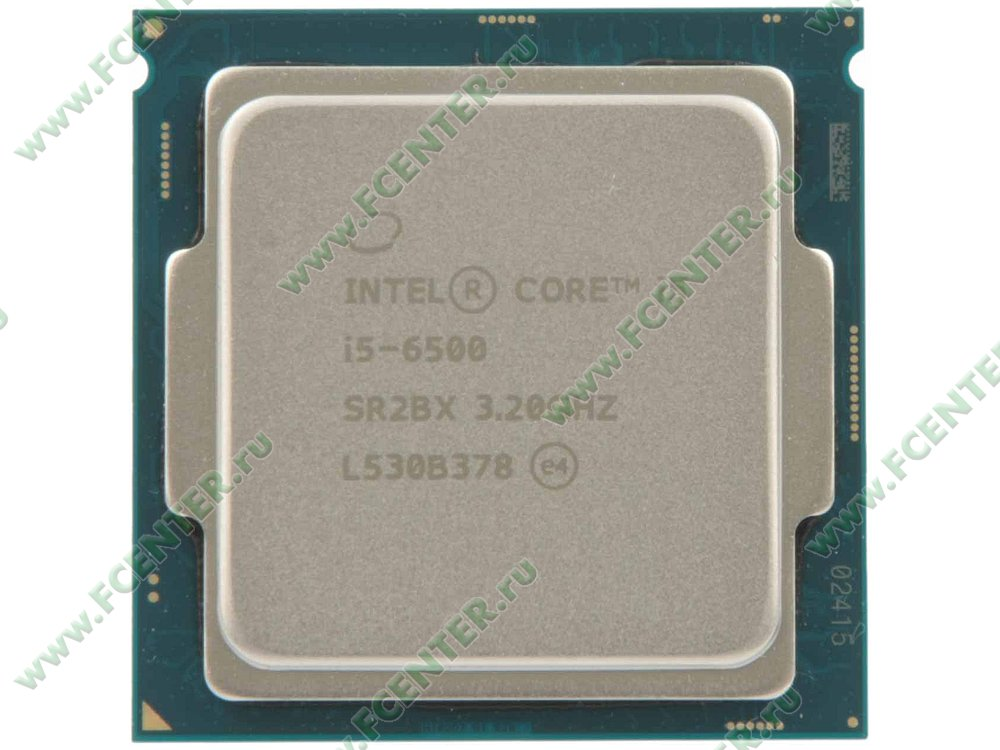 "Процессор Процессор Intel ""Core i5-6500"" . Вид сверху."
