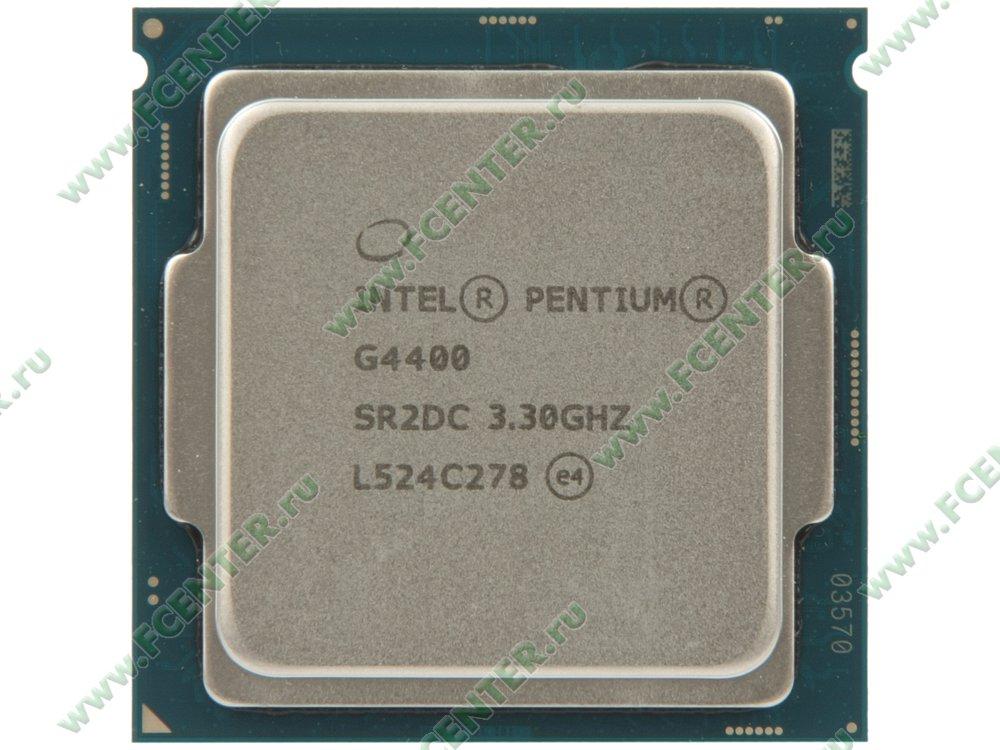 """Процессор Intel """"Pentium G4400"""" Socket1151. Вид сверху."""
