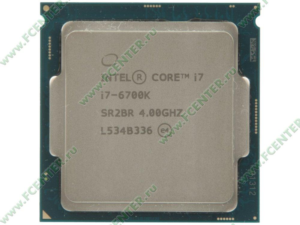 "Процессор Intel ""Core i7-6700K"" Socket1151. Вид сверху."