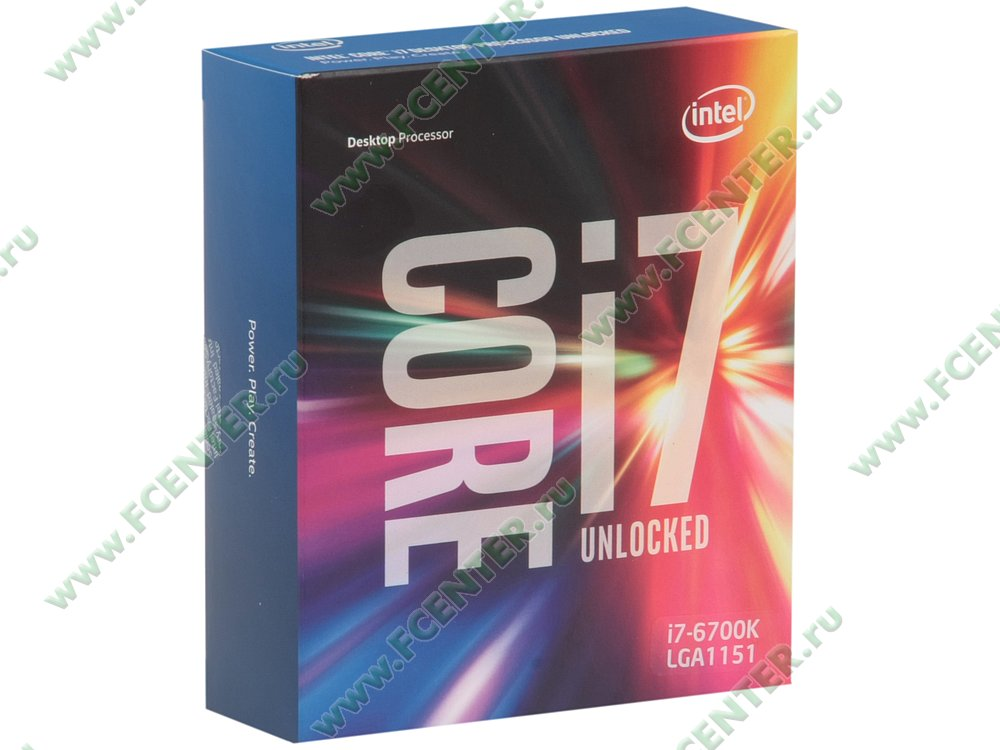 """Процессор Intel """"Core i7-6700K"""" Socket1151. Коробка."""
