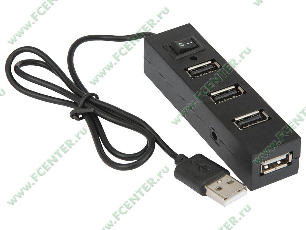 """Разветвитель USB2.0 ORIENT """"TA-400"""". Вид спереди."""