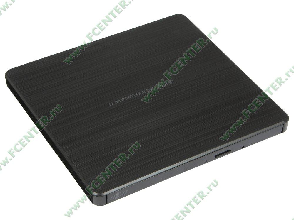 """Привод DVD±RW Привод DVD±RW LG """"GP60NB60"""" (USB2.0). Вид спереди."""