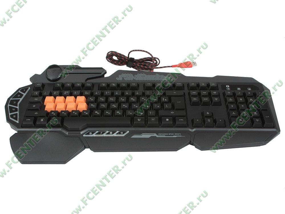 "Клавиатура A4Tech ""Bloody B318"" (USB). Вид спереди."