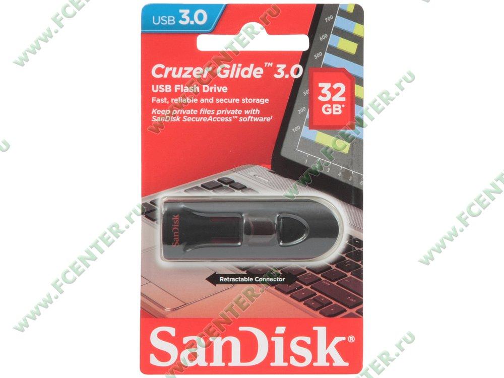 "Накопитель USB flash 32ГБ SanDisk ""Cruzer Glide 3.0"" (USB3.0). Коробка."