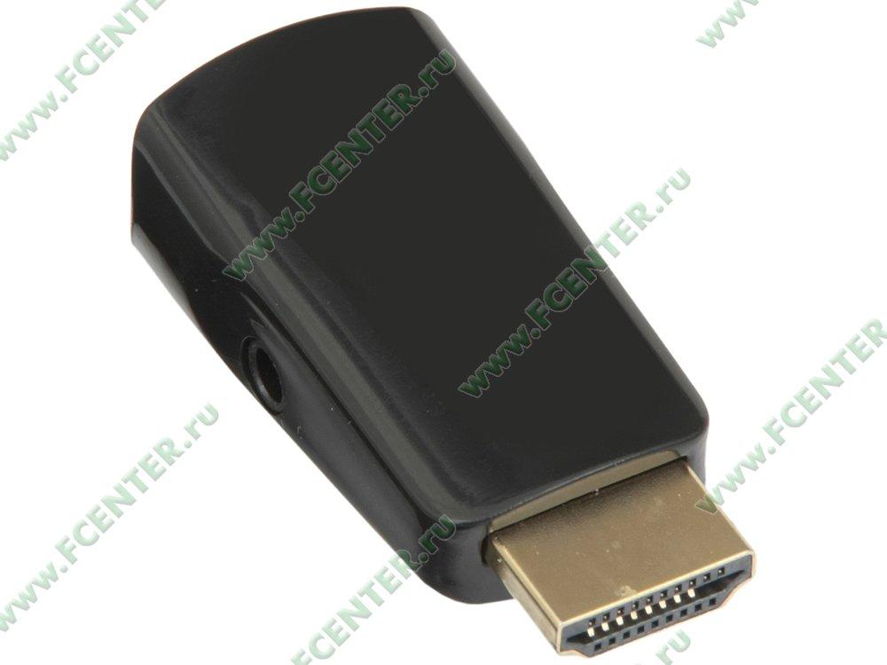"""Переходник HDMI->D-Sub(F)+аудио ORIENT """"C118"""". Вид спереди."""