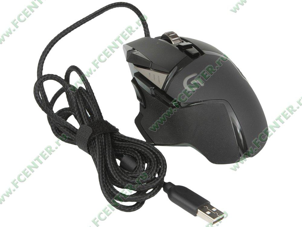 """Оптическая мышь Logitech """"G502 Proteus Spectrum"""" (USB). Вид спереди."""