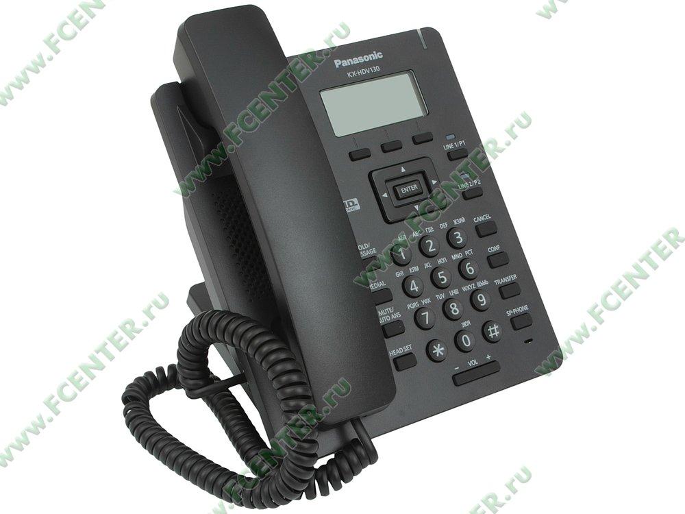 "VoIP-телефон VoIP-телефон Panasonic ""KX-HDV130RUB"". Вид спереди."