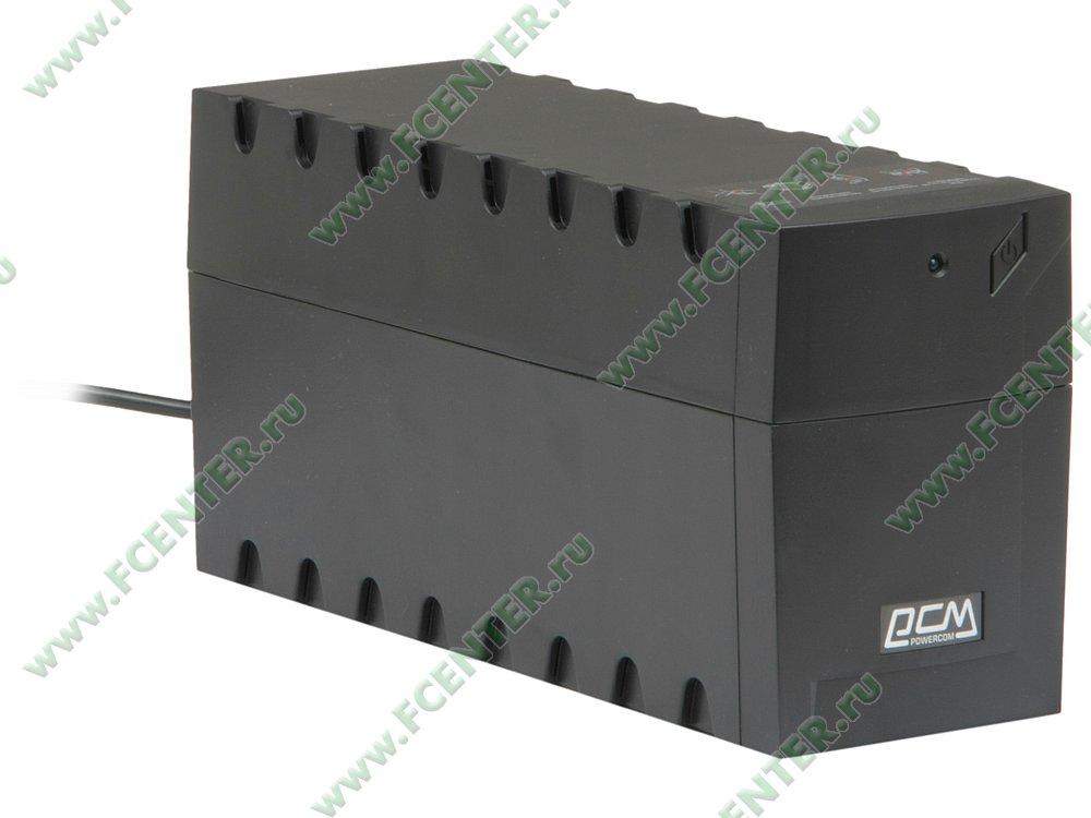 """Источник бесперебойного питания 600ВА Powercom """"Raptor"""" RPT-600A. Вид спереди."""