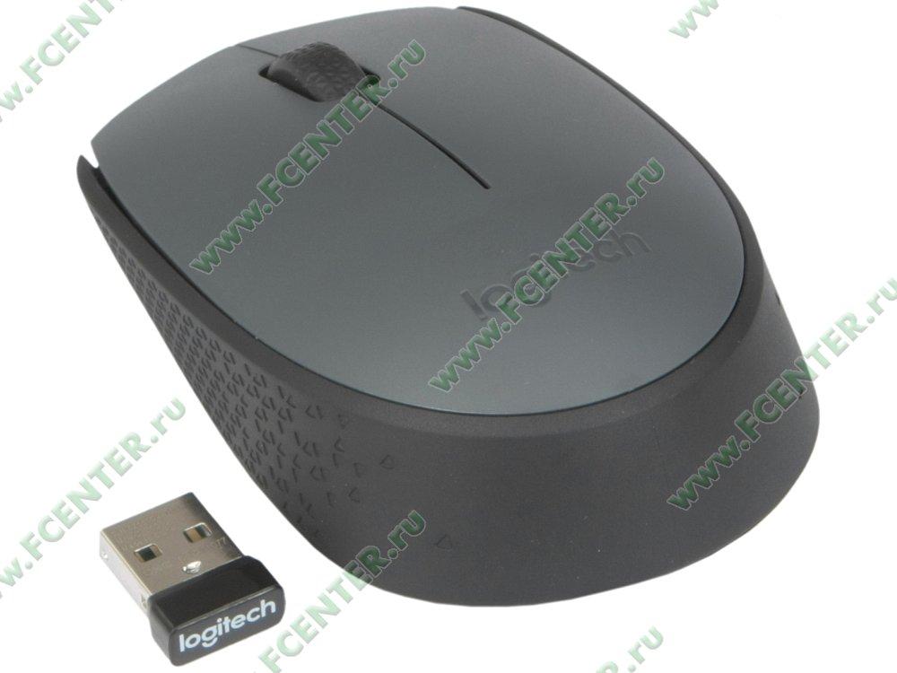 """Оптическая мышь Logitech """"M170"""", беспр. (USB). Вид спереди."""