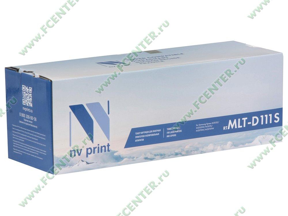 """Картридж NV Print """"MLT-D111S"""" (черный). Коробка."""
