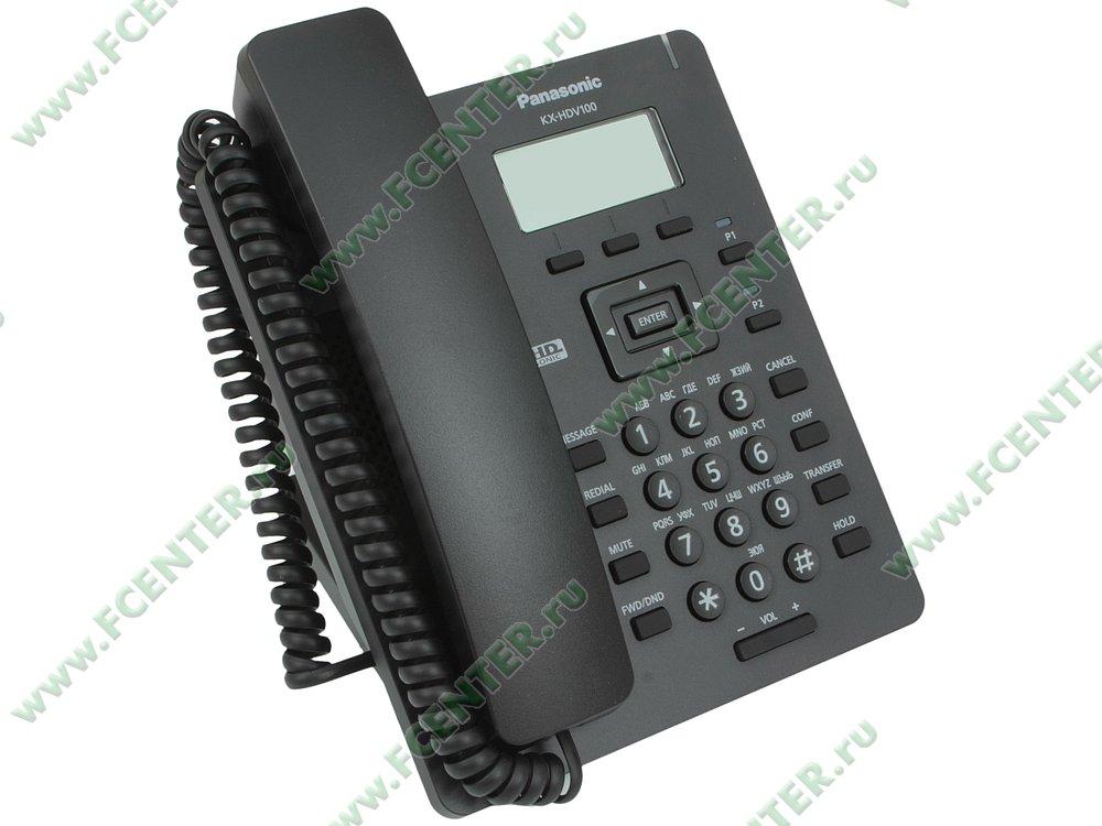 "VoIP-телефон Panasonic ""KX-HDV100RUB"". Вид спереди."
