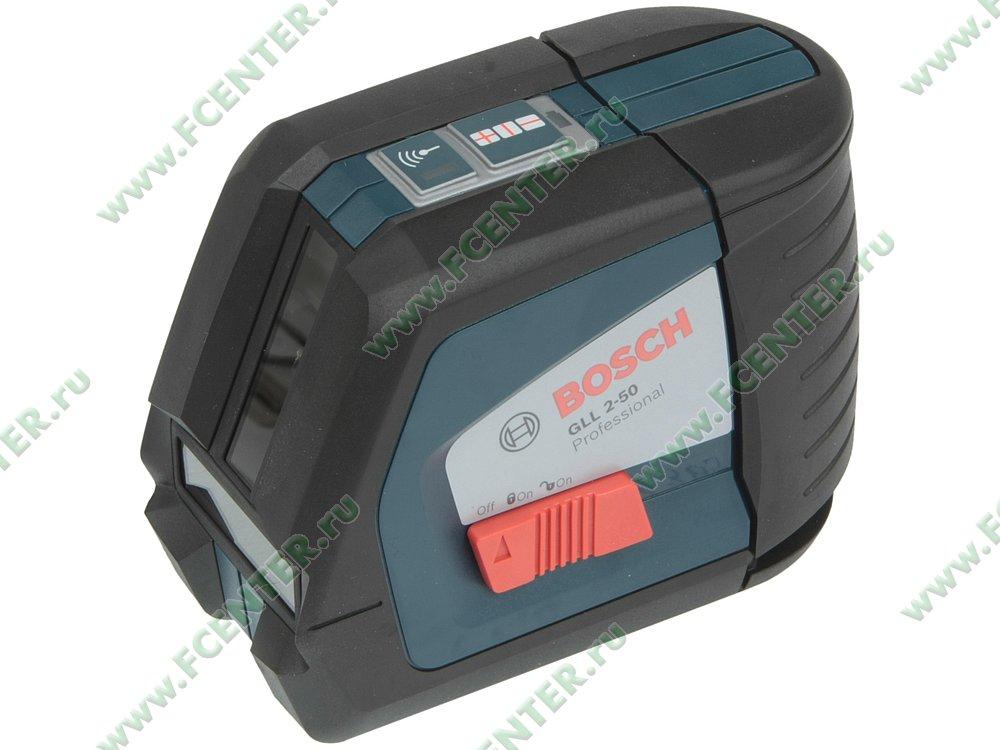 """Нивелир Bosch """"GLL 2-50 Professional"""", лазерный. Вид спереди."""