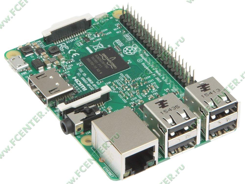"""Микрокомпьютер Espada """"Raspberry Pi 3 Model B"""". Вид спереди."""
