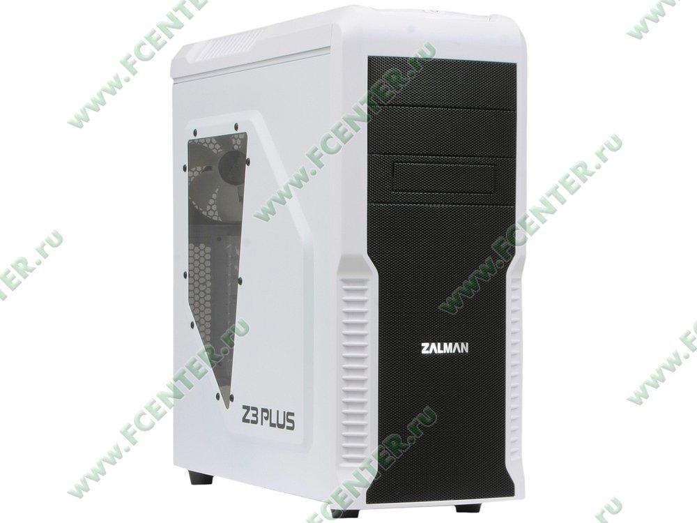 """Корпус Zalman """"Z3 Plus White"""" (без БП). Вид спереди 1."""