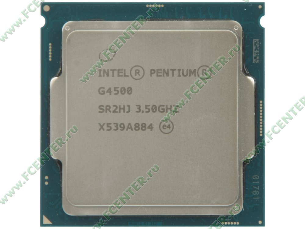 """Процессор Intel """"Pentium G4500"""" Socket1151. Вид сверху."""