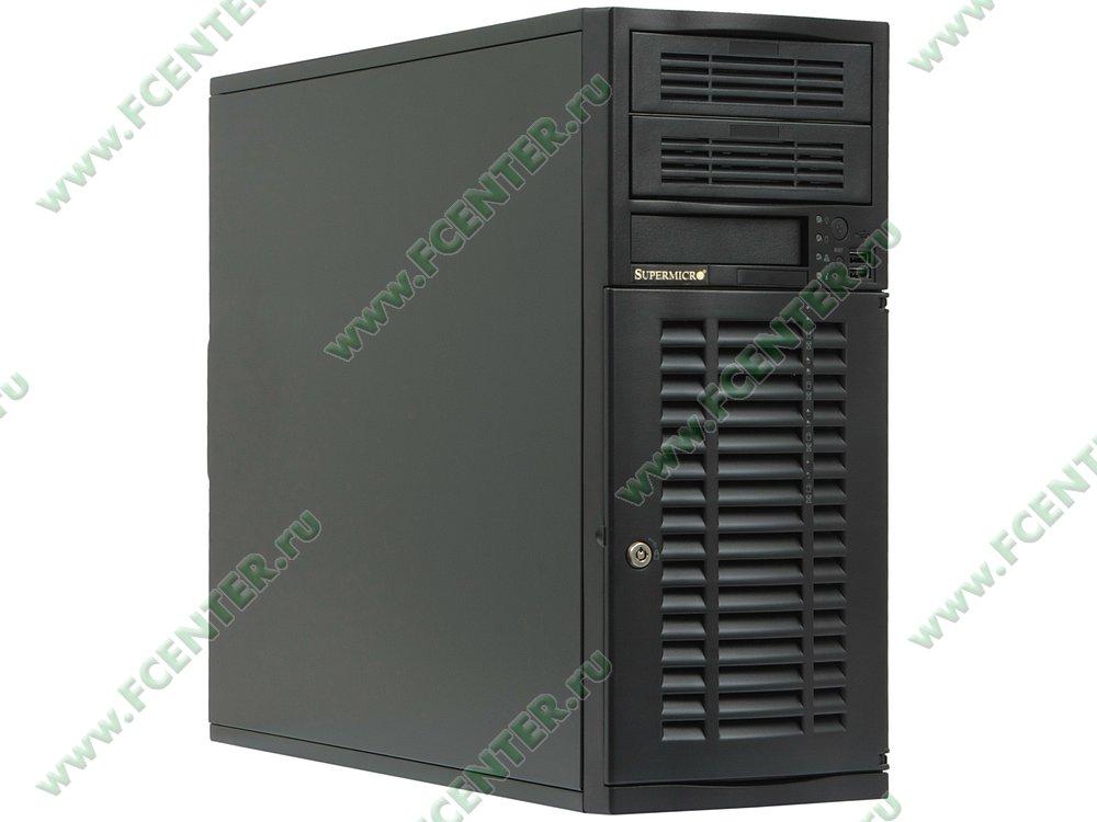 "Серверный корпус Supermicro ""CSE-733TQ-500B"" (500Вт). Вид спереди 1."