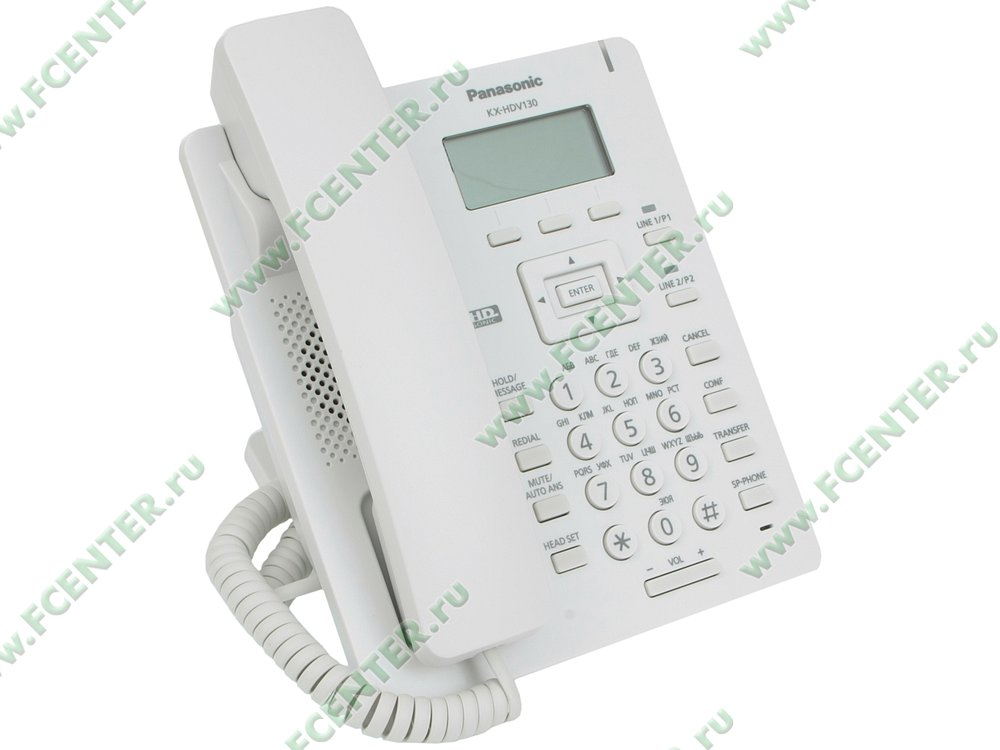 "VoIP-телефон VoIP-телефон Panasonic ""KX-HDV130RU"". Вид спереди."