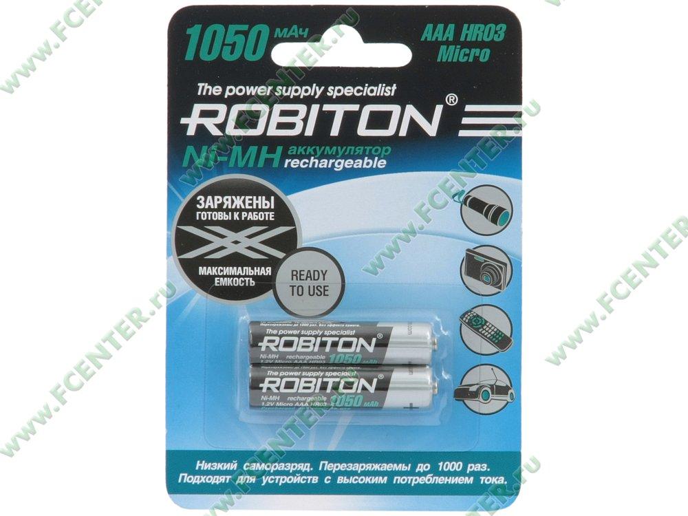 """Аккумулятор Robiton """"RTU1050MHAAA-2"""". Коробка."""
