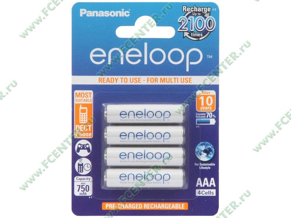 """Аккумулятор АКБ Panasonic """"eneloop"""". Коробка."""