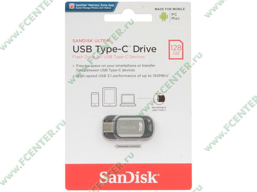 "����-����� 128�� SanDisk ""Ultra Type-C"" (USB3.1)"