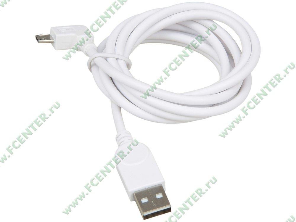 """Кабель USB2.0 ORIENT A-microB """"MU-215RB"""" (1.5м). Вид спереди."""